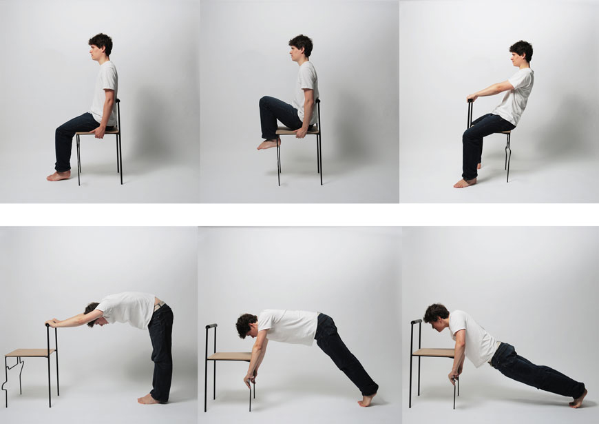 A chair for tai chi and plonking your bum on gizmodo for Chair design exercise