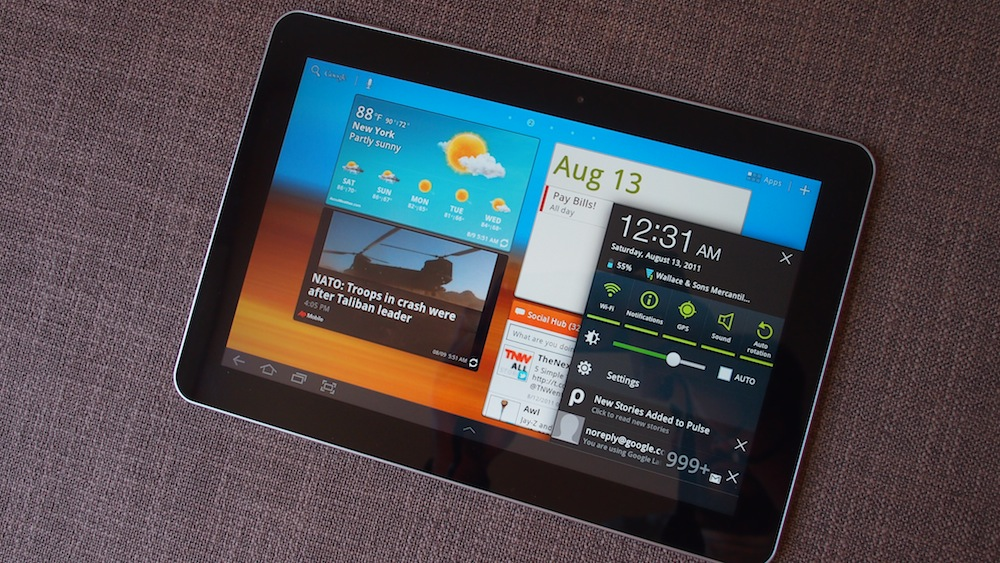 Samsung Galaxy Tab 10.1 Touchwiz Quick Review: Google Tablets Transformed?
