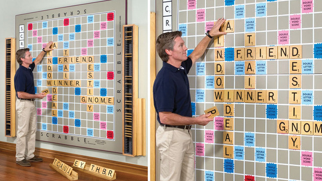 I Hope This Giant Wall Of Scrabble Contains Centuple Word