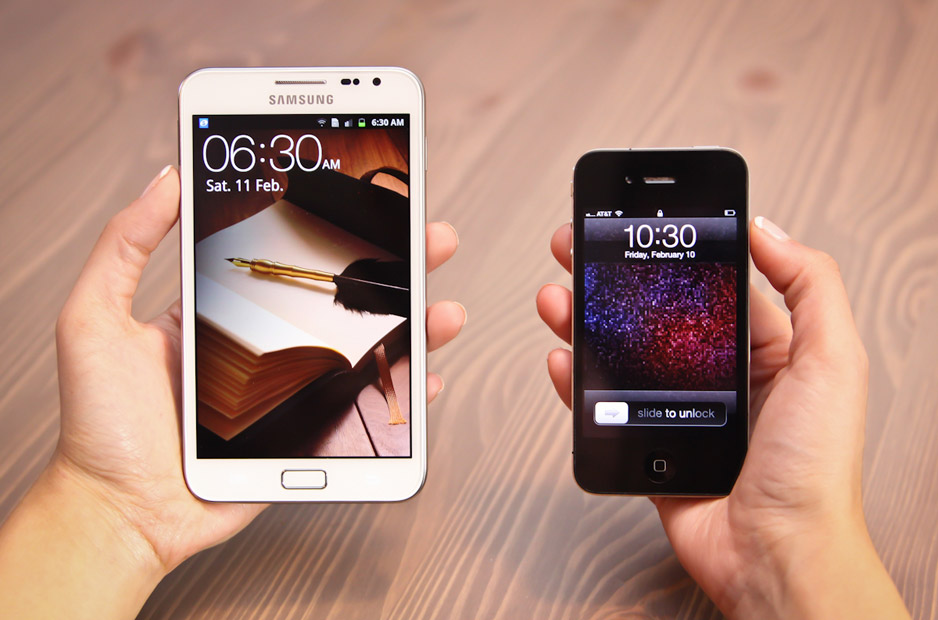 Next To The Galaxy Note My Iphone Looked Like A Useless Toy Like A Plastic Bubble Spitting Lawnmower Beside Its Real Life Counterpart