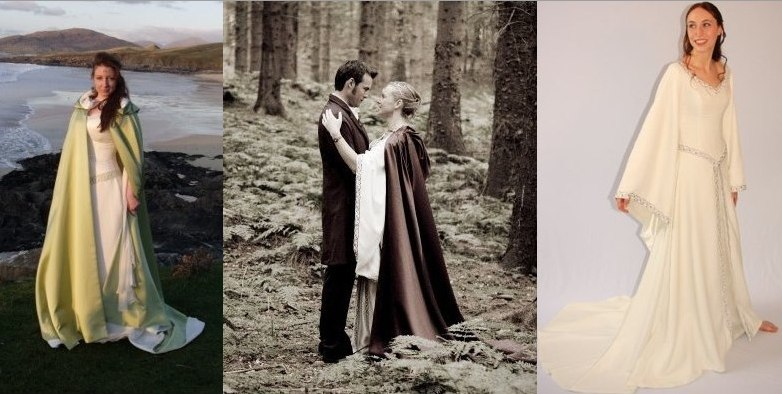 lord of the rings inspired wedding dress