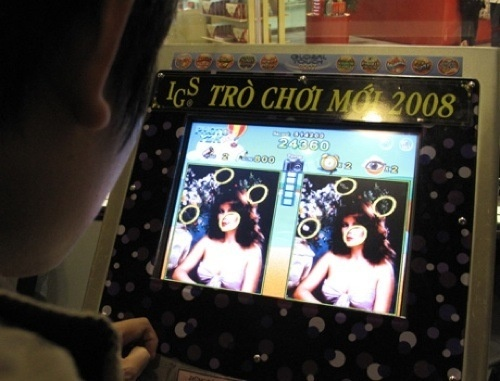 Adult video games are flooding the capital of Vietnam.