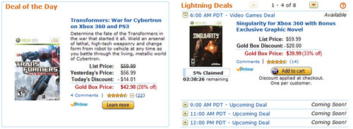 Amazon Does Video Game Deals All Day Long
