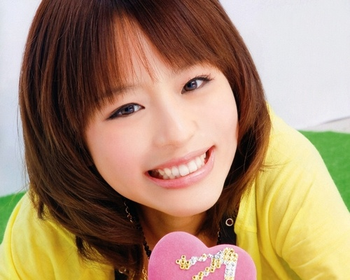 Famous Japanese anime voice actress, Aya Hirano.