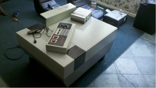 Behold! The Nintendo Entertainment System Coffee Table