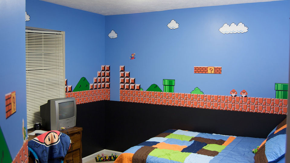 It Would Be Cool To Paint Their Son 39 S Room In A Super Mario Bros