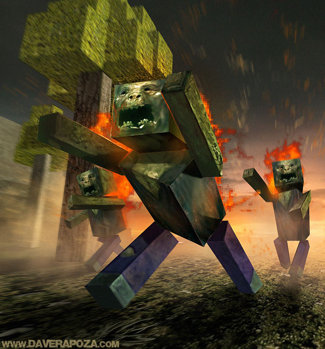 cool wallpapers of minecraft zombies - photo #5