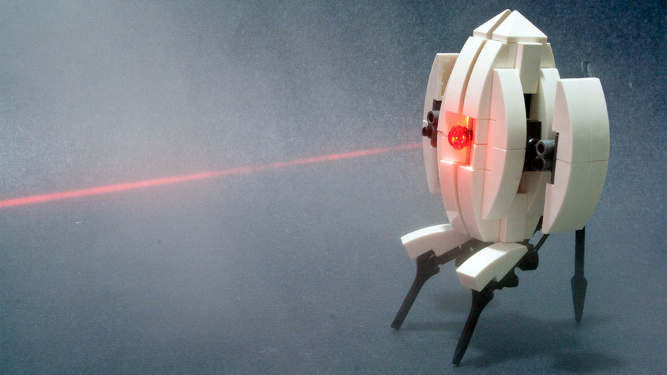 Here's How To Make Your Own Adorable Portal Turret Out Of LEGO
