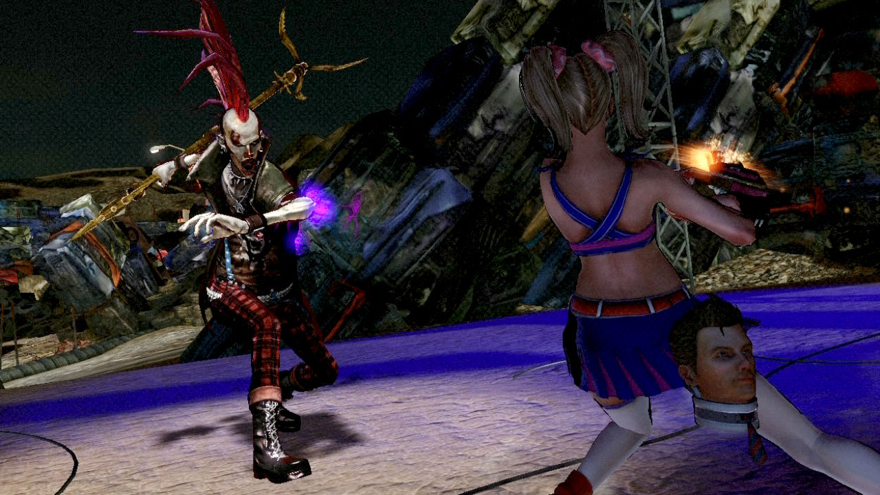 Eyeson With Lollipop Chainsaw And Juliet The Overly Chipper Zombie Slayer