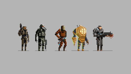 Halo, BioShock, Dead Space as 16-bit Heroes