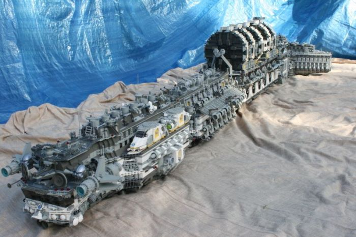 Lego Colonial Space Ship Is Big Enough To Terraform Real