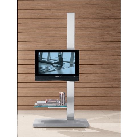 Asymmetric Flat Panel TV Stands May Have You Rethinking a