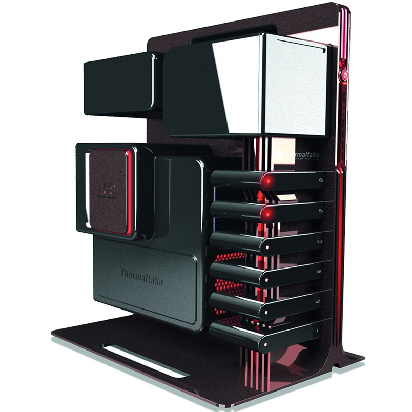 This pc case designed by bmw designworksusa for thermaltake is