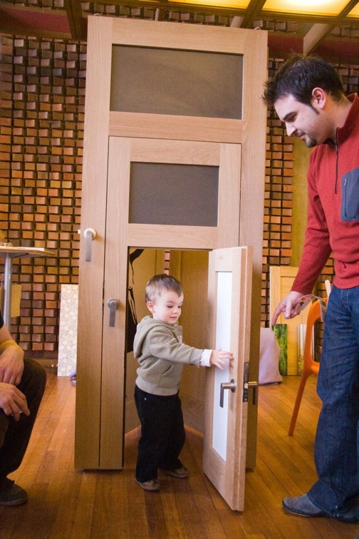 If Your Household Is Statureally Diverse, This 3 In 1 Door From Slam Doors  May Be Of Interest. It Features Separate Doors For Kids And Humiliatingly  Short ...