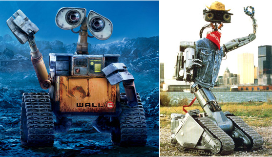 Robot V Johnny 5 http://www.gizmodo.com.au/2009/05/walle_vs_johnny_5_who_would_win_in_a_deathmatch-2/
