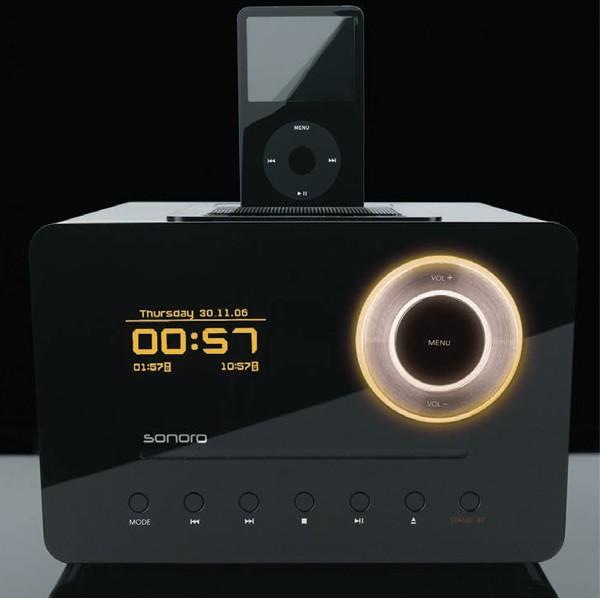 slick ipod dock packs slot loading cd player radio oled display gizmodo australia. Black Bedroom Furniture Sets. Home Design Ideas
