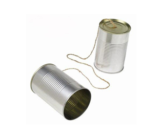 2 tin cans and a string