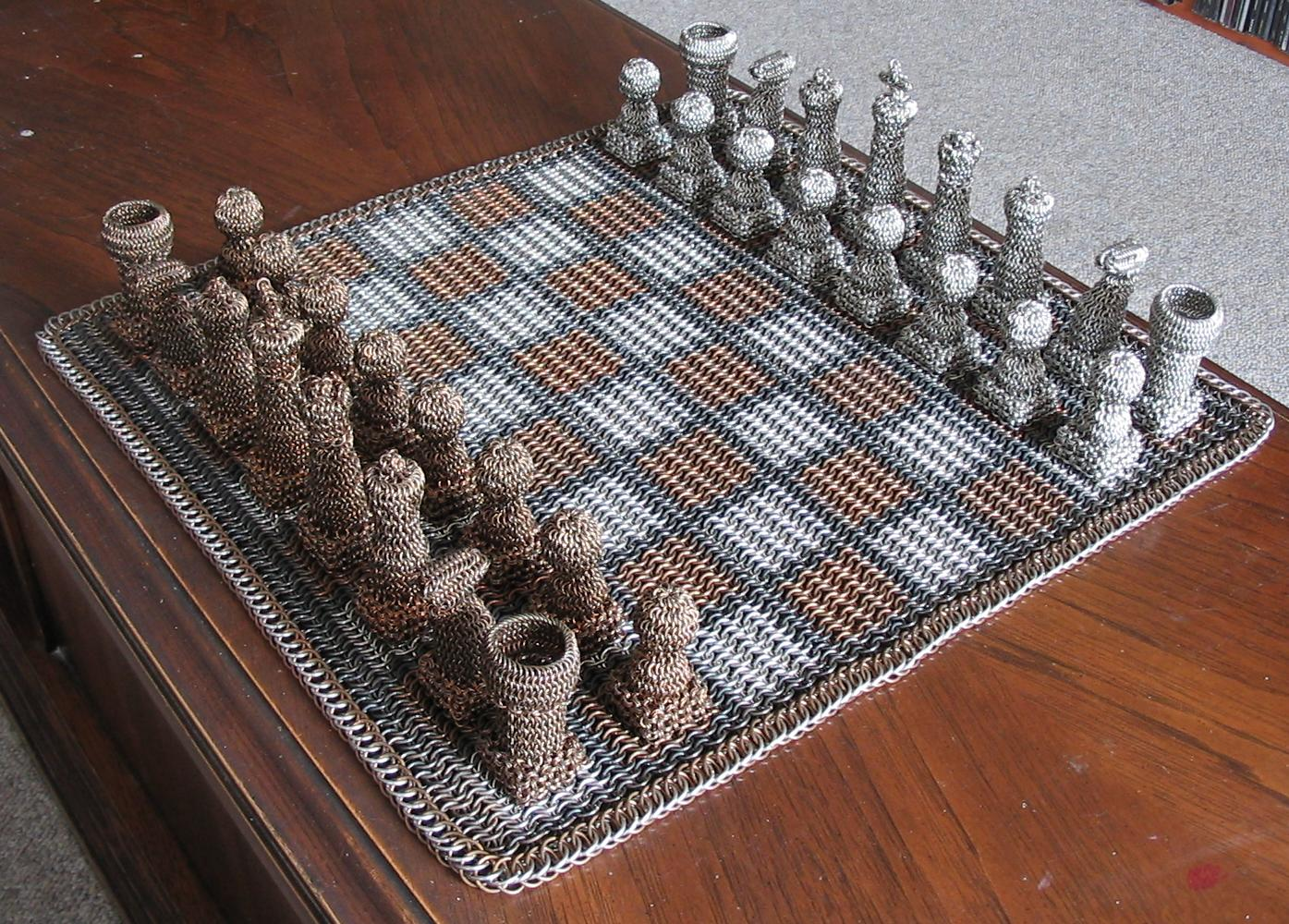 Chainmail Chess Set Is Suited For Battle Gizmodo Australia