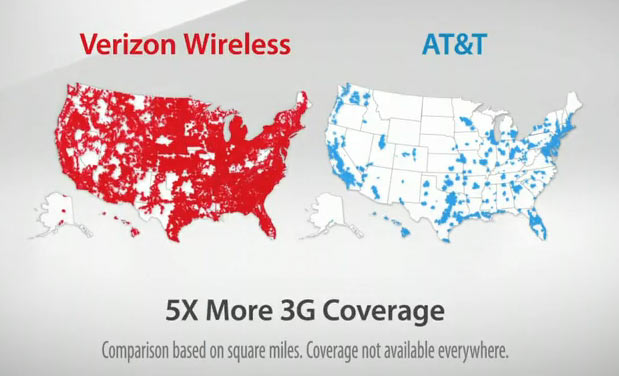 At Amp T Suing Verizon Because Quot Map Quot Ad Is Confusing To Dumb