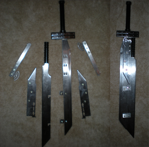 Buster Sword v2, also taller than me but has several blades that ...