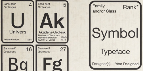 Periodic table of typefaces schools you on fonts lifehacker australia cant decide which sans serif humanist font works best take your seats class and lets review the periodic table of typefaces urtaz Image collections