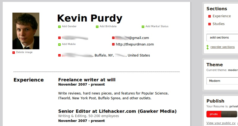 Ceevee resume builder