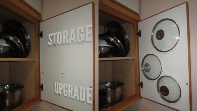 Store Saucepan Lids Inside Your Cabinet Doors Lifehacker
